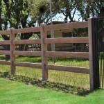 Precast Ranch Rail Style Concrete Fence - Oklahoma