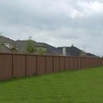 Precast Vertical Wood Style Concrete Fence - Oklahoma
