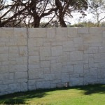 Rock Single Wythe Concrete Fence - Oklahoma