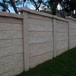 Precast Brick Style Concrete Fence - Oklahoma