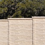 Precast Rock Style Concrete Fence - Oklahoma