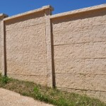Precast Stucco Style Concrete Fence - Oklahoma
