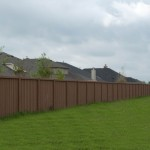 Precast Vertical Wood Style Concrete Fence - Oklahoma